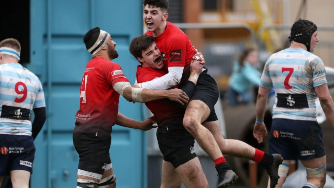 Glasgow Hawks escaped the relegation zone with a big win at Edinburgh Accies at the start of March. Image: FOTOSPORT/DAVID GIBSON