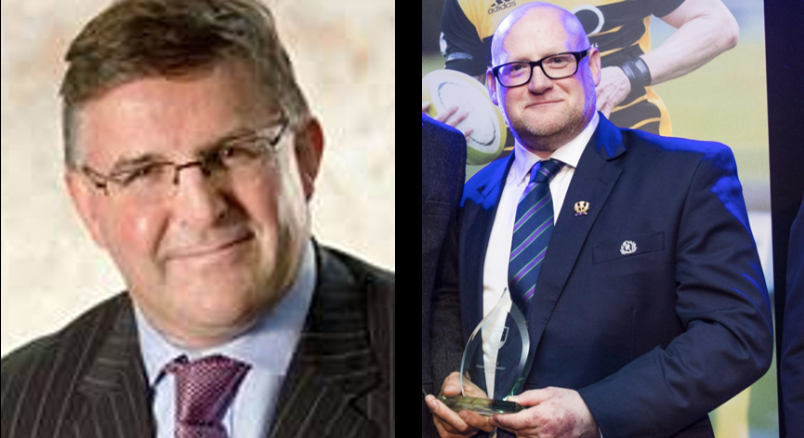 Keith Wallace [left] and Colin Rigby [right] are standing for election as Vice President of the Scottish Rugby Union at next month's AGM.