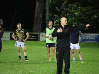 Mark Cairns puts his Currie Chieftains squad through their paces as they continue to target a 31st October return for rugby. Image: Currie Chieftains