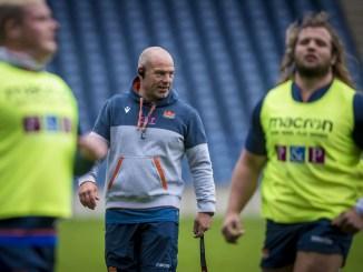 Richard Cockerill putting his Edinburgh through their paces at training yesterday. Image: © Craig Watson - www.craigwatson.co.uk