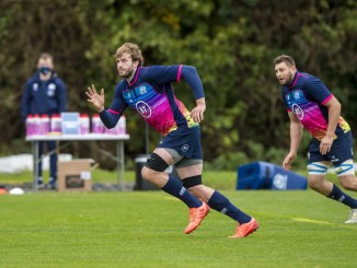 Richie Gray in training with the Scotland squad at Oriam yesterday morning. Image: © Craig Watson - www.craigwatson.co.uk