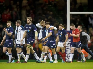 A dejected Scotland team leave the field following their Six Nations horror show in Wales two years ago. Image: © Craig Watson - www.craigwatson.co.uk