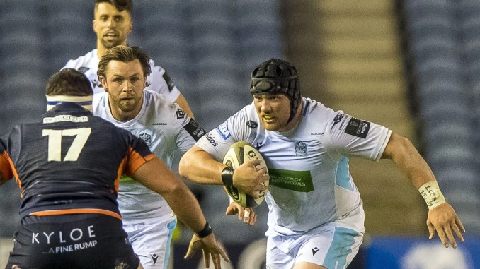 Zander Fagerson's selection at tight-head prop against Scarlets is one of three changes to the Glasgow Warriors starting XV. Image: ©Craig Watson