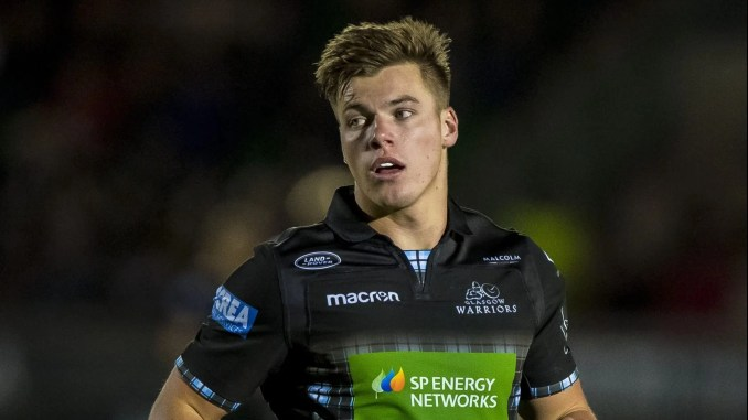 Huw Jones' interception try with 10 minutes to go clinched the win for Glasgow Warriors. Image: ©Craig Watson