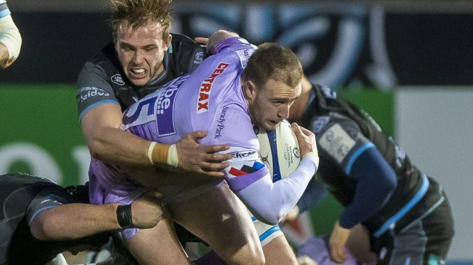 Jonny Gray and Stuart Hogg were opponents the last time Glasgow Warriors played Exeter Chiefs, but will be team-mates for the European Champions this time round. Image: © Craig Watson - www.craigwatson.co.uk