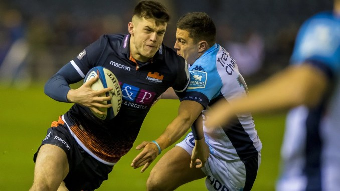 Blair Kinghorn has had to pull out of Edinburgh's match against Zebre today due to a late Covid return. Image: © Craig Watson - www.craigwatson.co.uk