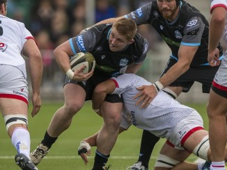 Johnny Matthews in action for Glasgow Warriors against Ulster. Image: © Craig Watson - www.craigwatson.co.uk