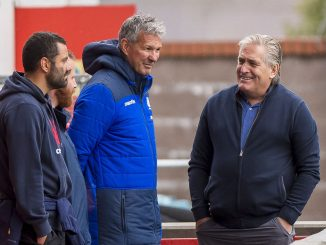 The current academy structure was created by former Director of Rugby Scott Johnson (far right) and managed by sEAN Lineen (centre) but a more joined-up approach is required. Image: © Craig Watson - www.craigwatson.co.uk