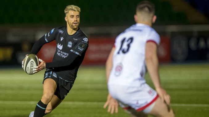 Adam Hasting played his first match in almost four months for Glasgow Warriors against Ulster on Friday night. Image: © Craig Watson - www.craigwatson.co.uk