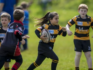 Pre-Covid action from the East Kilbride Mini's Rugby Festival. Image: © Craig Watson - www.craigwatson.co.uk