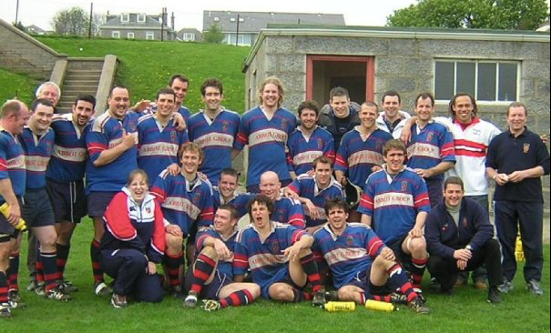 Aberdeen Grammar squad from the 2003-4 season.