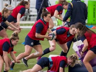Rachel Malcolm and her Scotland team-mates during training this week. Image: © Craig Watson - www.craigwatson.co.uk