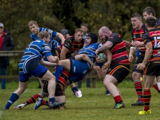 Whitecraigs and Stewarts Melville in action in National League Two. Image: © Craig Watson - www.craigwatson.co.uk