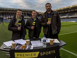 Dougie Vipond, Chris Paterson and Jim Hamilton on Premier Sports duty. Image: © Craig Watson - www.craigwatson.co.uk