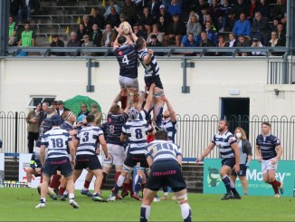 Watsonians play Heriot's at Myreside under the lights on Friday night. Image: Graham Gaw