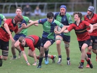Boroughmuir defeated Stewart's-Melville College during the pool stage of the festival and ended up as Scotland's top-ranked team, finishing third overall. Image: Steve Langmead