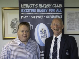 Andrew Philip of Capability Scotland and Heriot's President Iain Duckworth launched their new partnership ahead of the club's Super6 match versus Boroughmuir Bears earlier this month.