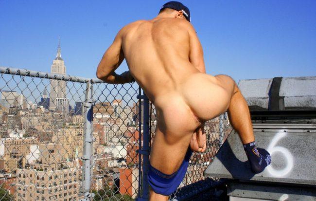 couilles pendantes de mec New York