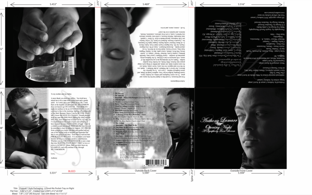 Anthony Lamarr CD Case Design