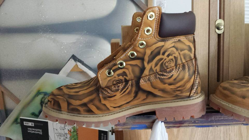 Airbrushed Timberland Boots