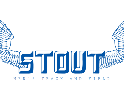 Stout track logo vector wings