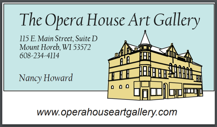 Business Card for the Opera House Art Gallery