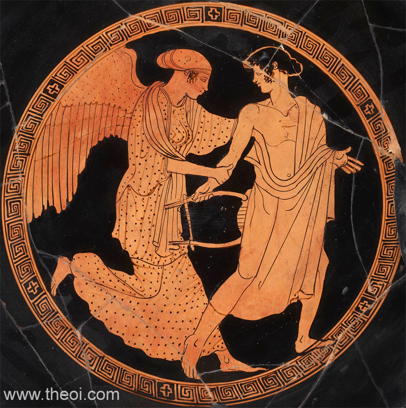 Eos and Tithonus | Athenian red-figure kylix C5th B.C. | British Museum, London