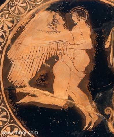 Image result for Ancient Greek Zephyrus and Hyacinthus vase