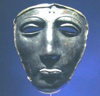 roman silver mask