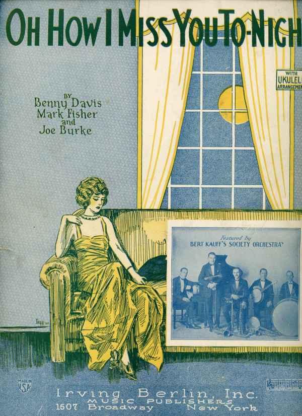 vintage sheet music 1920's