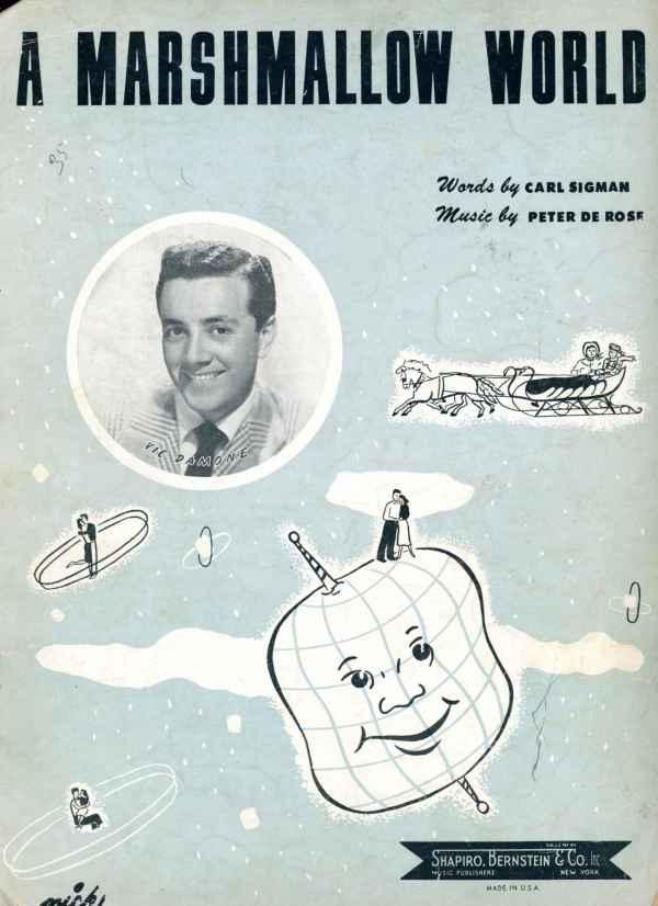 A Marshmallow World Vintage Sheet Music Christmas Holiday 1949 Vic Damone