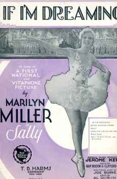 If I'm Dreaming Sheet Music Vintage 1929 Musical Sally Marilyn Miller Jerome Kern Score