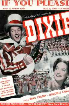 If You Please Sheet Music Vintage 1943 Musical Dixie Bing Crosby and Dorothy Lamour