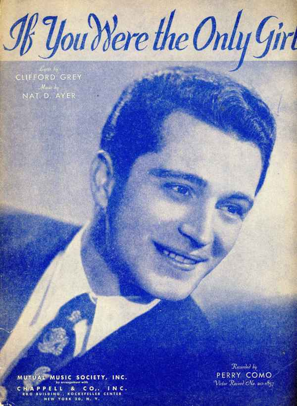 If You Were The Only Girl Sheet Music Vintage Clifford Gray Nat Ayer Perry Como