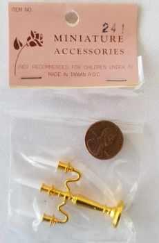 Vintage Candelabra Three Arms Dollhouse Miniature 1:12 Scale