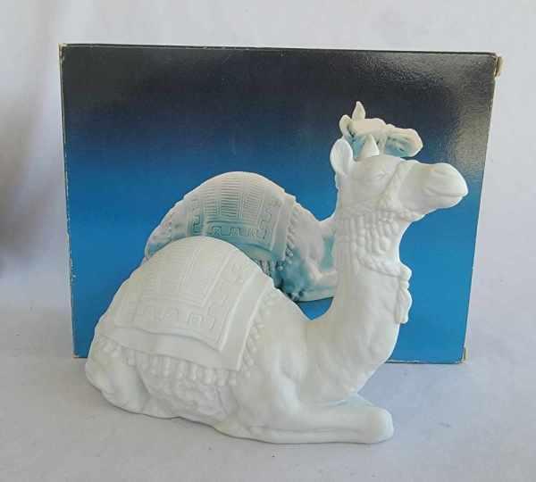 Avon Vintage Christmas Nativity The Camel White Porcelain Bisque Figurine 1984