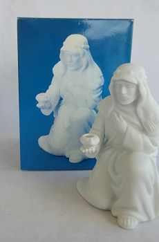 Avon Vintage Christmas Nativity The Innkeeper White Porcelain Bisque Figurine 1988
