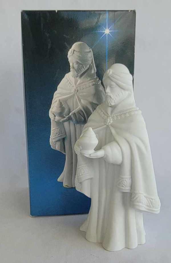 Avon Vintage Christmas Nativity The Magi Balthasar White Porcelain Bisque Figurine 1982