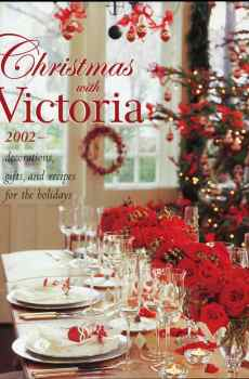Christmas With Victoria 2002 Magazine Annual Holiday Decorations Gifts Entertaining Hardcover