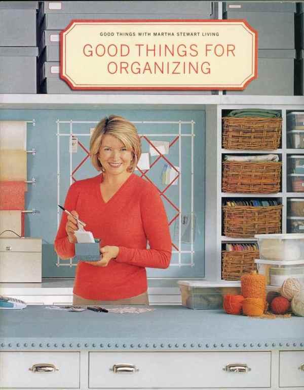Good Things For Organizing Martha Stewart Living Home Decor Book