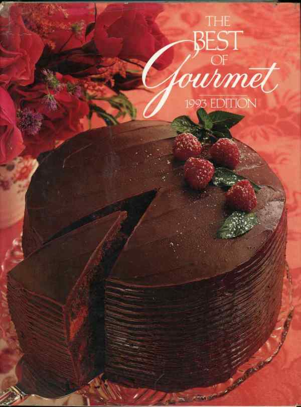The Best of Gourmet 1993 Vintage Cookbook 8th Edition Recipes Hardcover