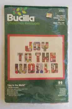Bucilla Counted Cross Stitch Christmas Heirloom Joy To The World 11x14 Number 82023 Vintage
