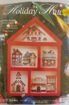 Bucilla Holiday Stitch Gallery of Stitches Christmas Village Counted Cross Stitch House No. 33380 1995