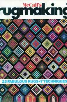 McCall's Rugmaking Patterns How To Make 1974 Retro Mid Century Original Designs Latch Hook Needlepoint
