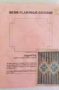 Neon Flamingo Designs Patricia Timpanaro Jagged Edge Vintage Needlework 1992