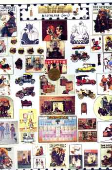 Norman Rockwell Nostalgia Magazine Covers Page Mini Prints The Picture Show Scaled Miniatures Dollhouse Miniature 1:12 Scale