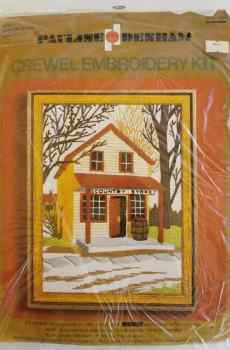 Pauline Denham Crewel Embroidery Kit Country Store Vintage 1974 Number 6058 New