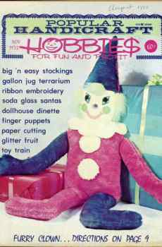 Popular Handicraft Hobbies For Fun and Profit November 1973 Magazine Retro Mid Century Projects Finger Puppets