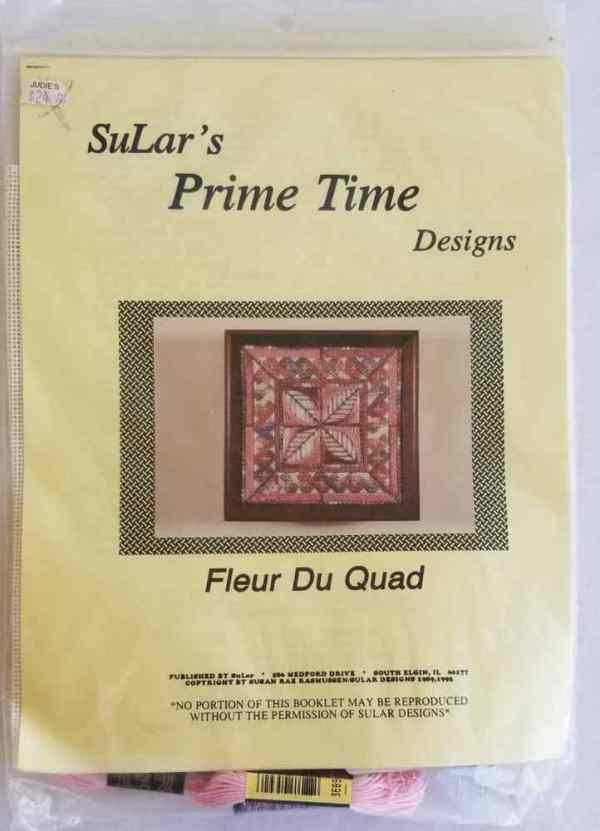 SuLar's Prime Time Designs Fleur du Quad Needlepoint Kit Complete Needlework 1992 New