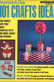 Woman's Day 101 Crafts Ideas Number 2 1973 Mid Century Jewelry Candles Decor Sweaters